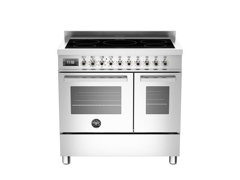 90 cm piano a induzione forno elettrico doppio bertazzoni - Cucina a induzione ...