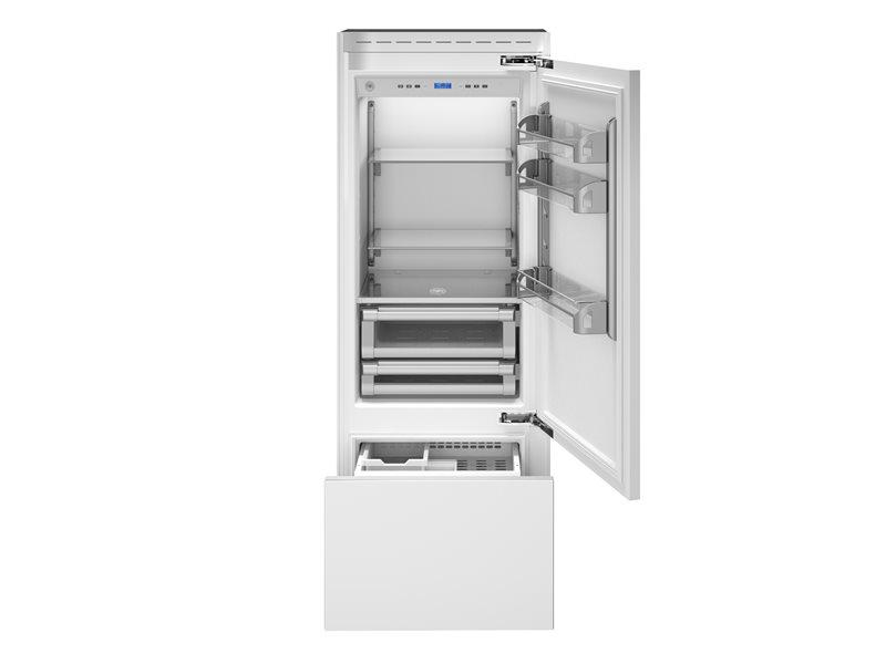 75 cm frigorifero ad incasso, panel ready apertura lato ...