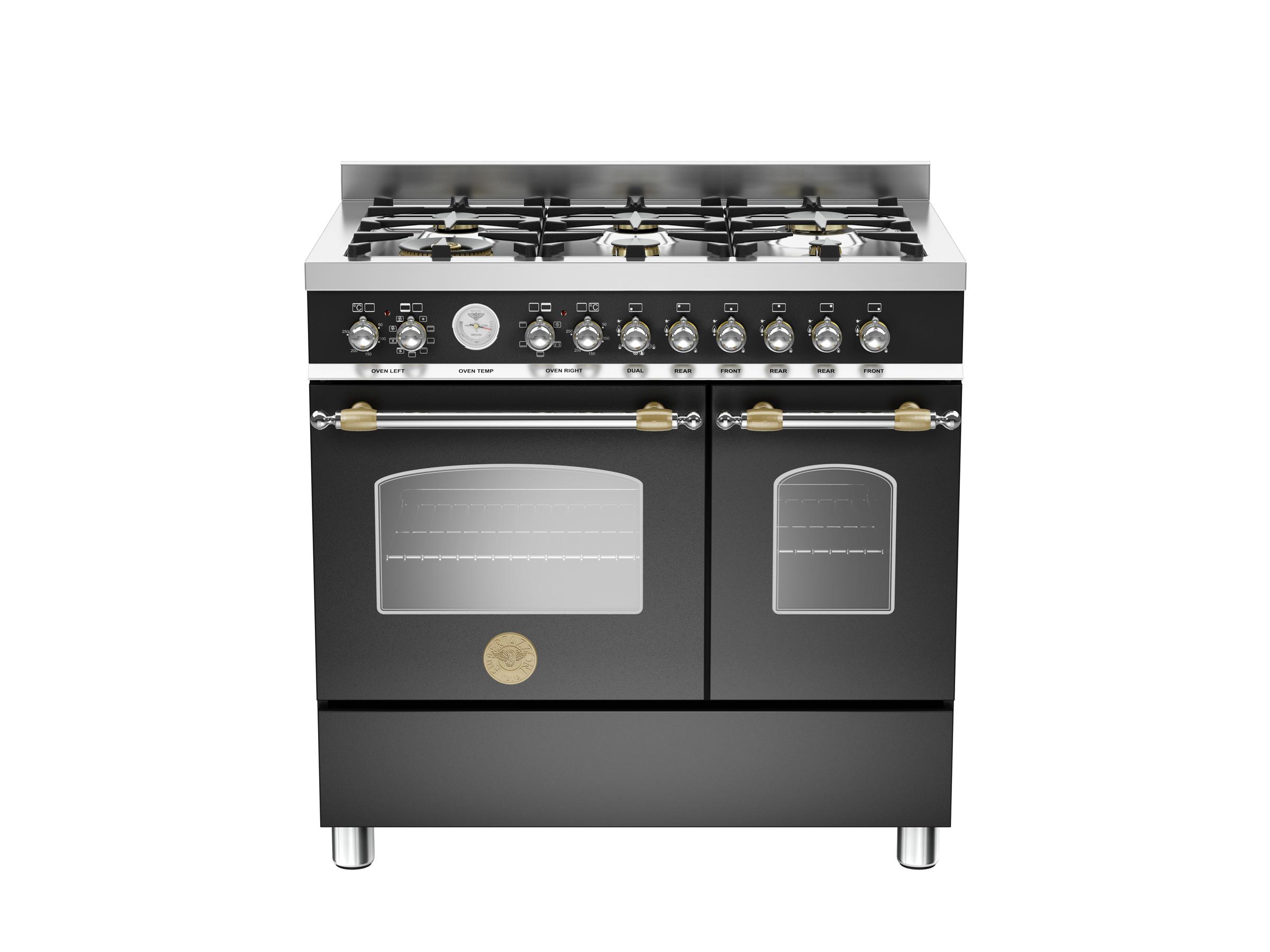 90 cm 6 bruciatori, forno elettrico doppio | Bertazzoni