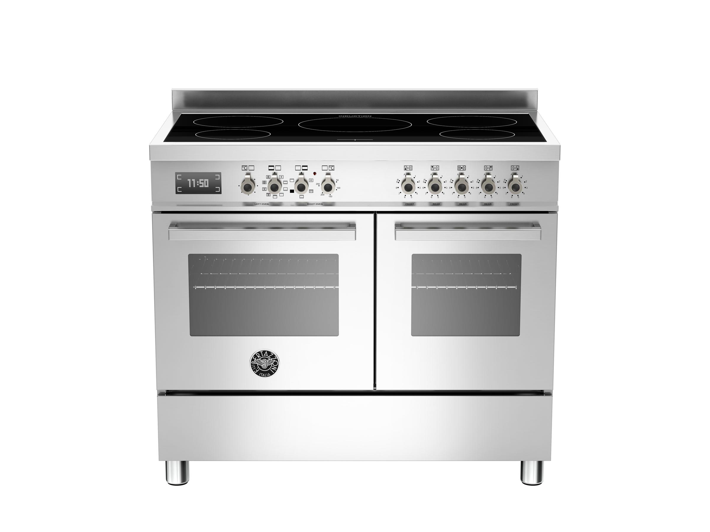 100 cm piano a induzione forno elettrico doppio bertazzoni - Cucina induzione con forno ...