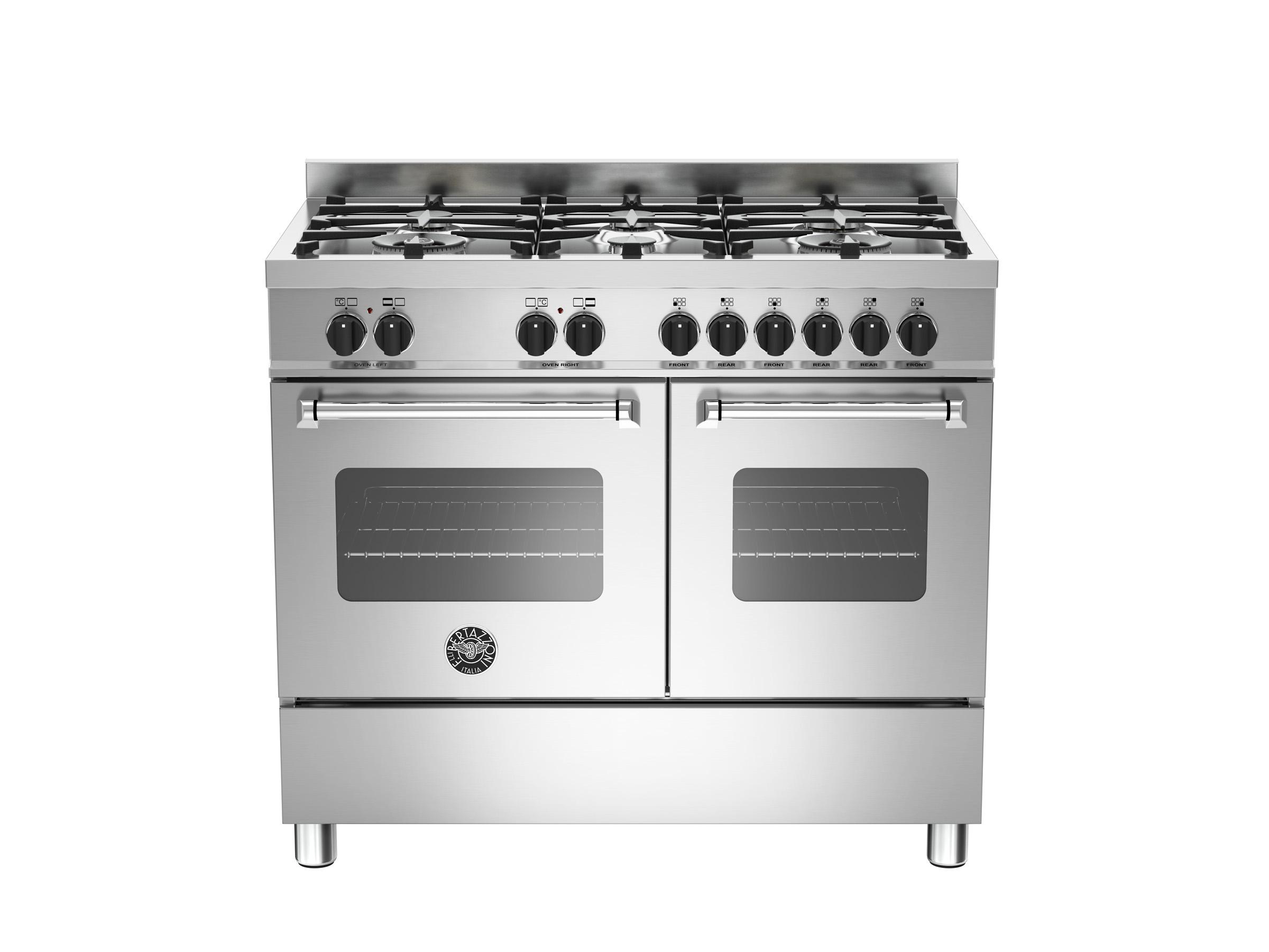 100 cm 6 bruciatori, forno elettrico doppio | bertazzoni - Cucina A Gas Con Forno Elettrico Ventilato